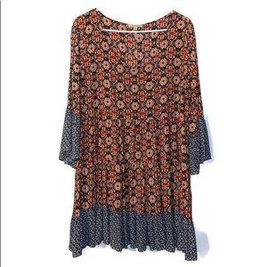 Kori Plus   Floral Boho Tunic Dress